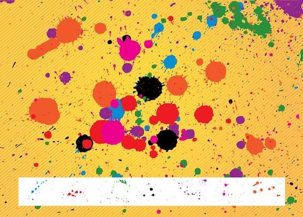 Salpicaduras de pintura pack descargar vectores gratis - Salpicaduras de pintura ...