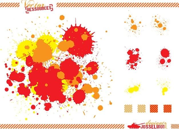 Salpicaduras de pintura descargar vectores gratis - Salpicaduras de pintura ...