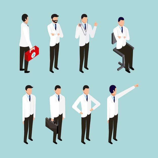 Salud digital de personas vector gratuito