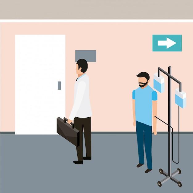 Salud de personas medicas vector gratuito
