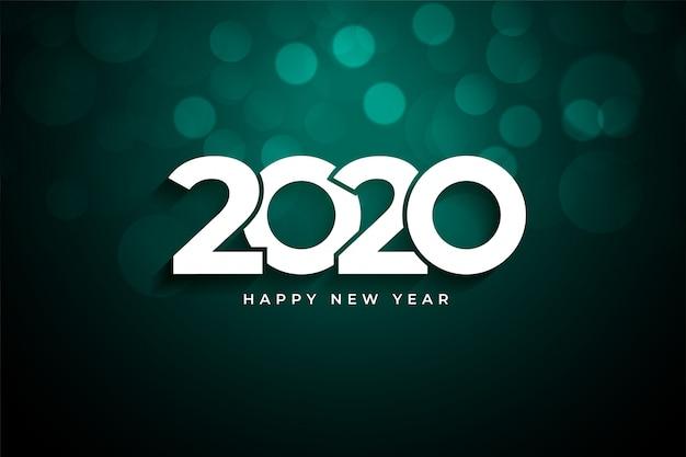 Saludo creativo de feliz año nuevo 2020 vector gratuito