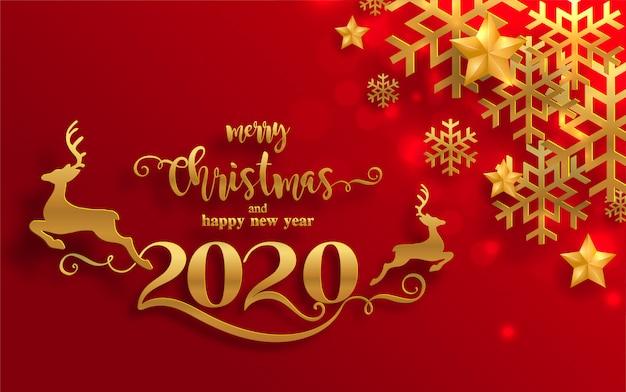 saludos de feliz navidad y plantillas de feliz ano nuevo 2020 con bellas ilustraciones de invierno y nevadas vector premium https www freepik es profile preagreement getstarted 5254696