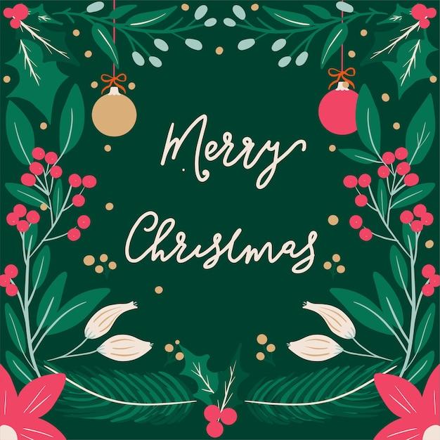 Saludos feliz navidad Vector Premium