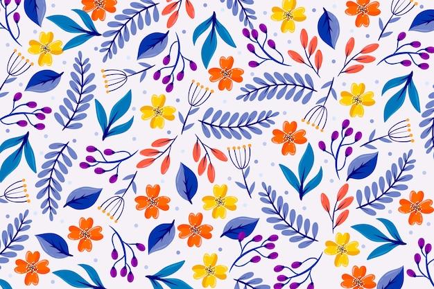 Salvapantallas floral colorido ditsy vector gratuito