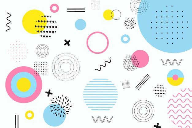Salvapantallas de formas geométricas abstractas vector gratuito