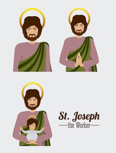 Resultado de imagen para ilustraciones de San José