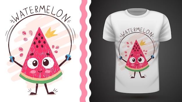 Sandía dulce - idea para camiseta estampada Vector Premium