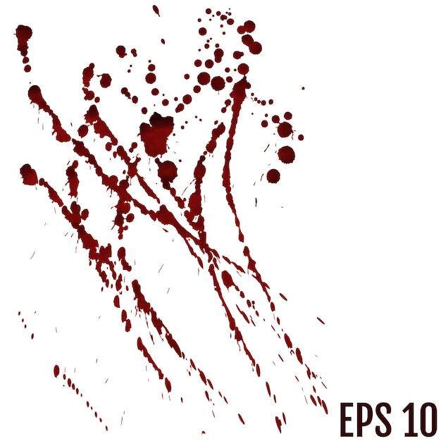 Sangre, concepto de halloween. Vector Premium