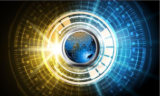 Sci fi tecnología ciber futurista diseño concepto fondo eps 10 vector Vector Premium