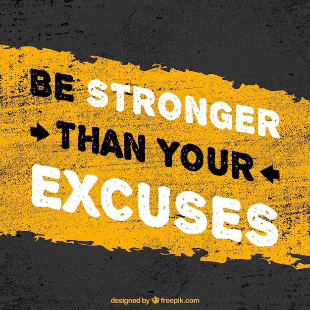 Se más fuerte que tus excusas Vector Gratis