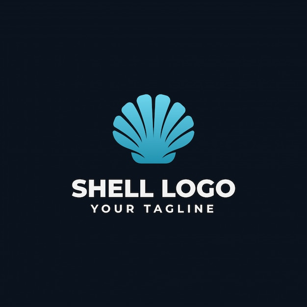 Sea shell pearl, oyster, seafood, restaurant logo design template Vector Premium
