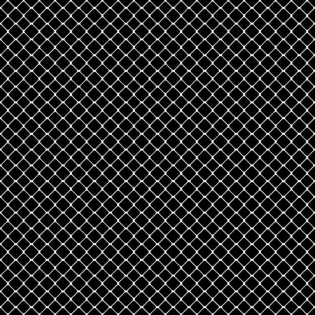 Seamless patrón monocromático cuadrado abstracto vector gratuito