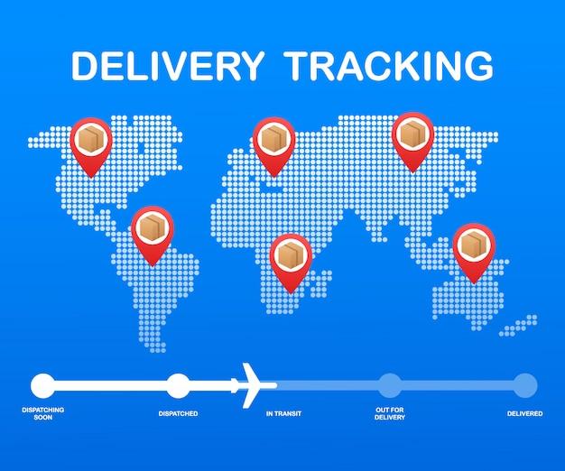 Seguimiento de paquetes en línea Vector Premium