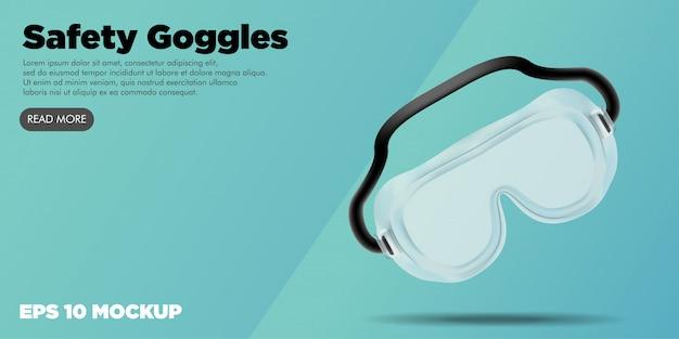Seguridad médica kit médico banner web editable Vector Premium