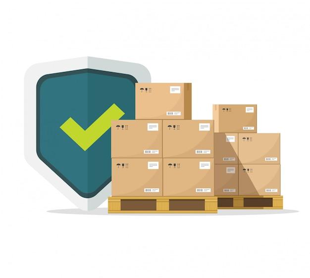 Seguro de envío para garantía de entrega de carga Vector Premium