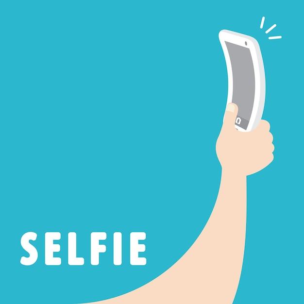 Selfie Vector Premium