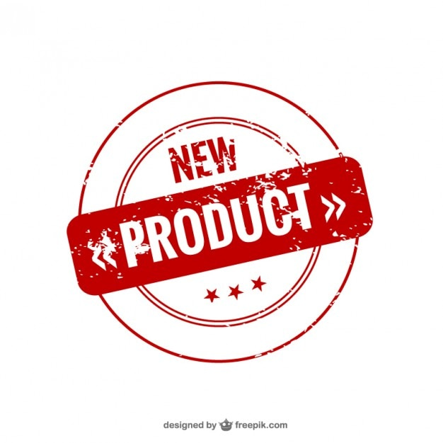 Sello de nuevo producto vector gratuito