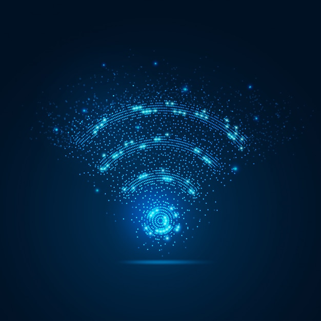 Señal wifi con elemento Vector Premium