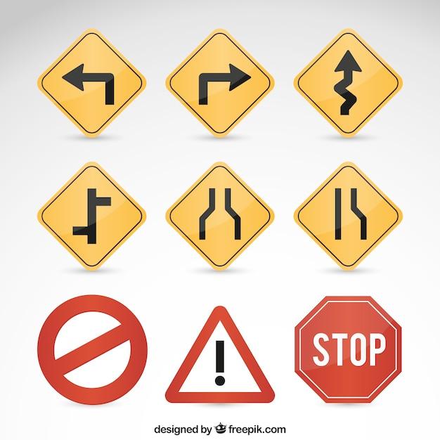 Las señales de tráfico Vector Premium