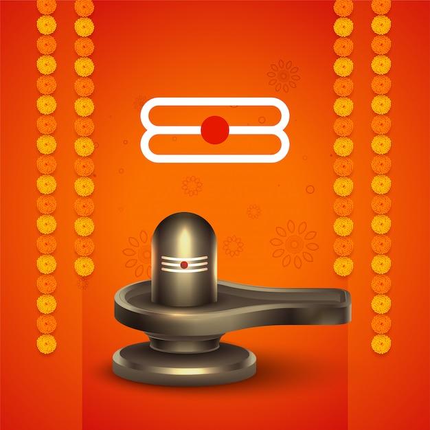 Señor shiva maha shivratri festival saludo vector gratuito