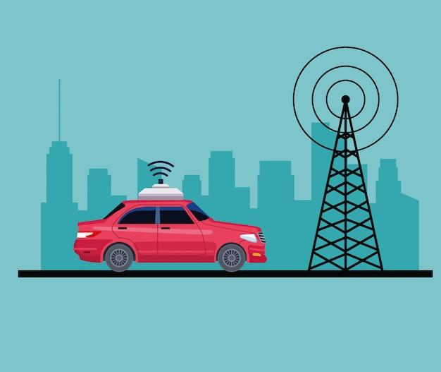Servicio de coche de localización gps vector gratuito