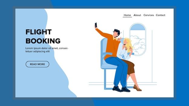 Servicio de internet en línea de reserva de vuelos Vector Premium