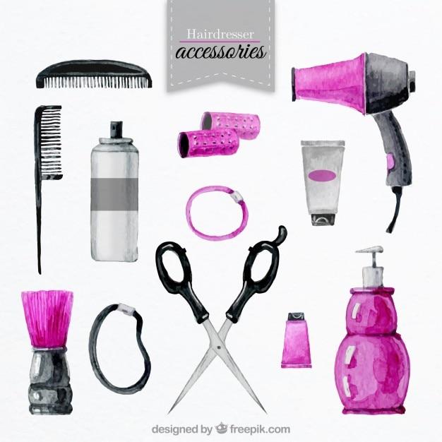 Set de accesorios de peluquería Vector Premium