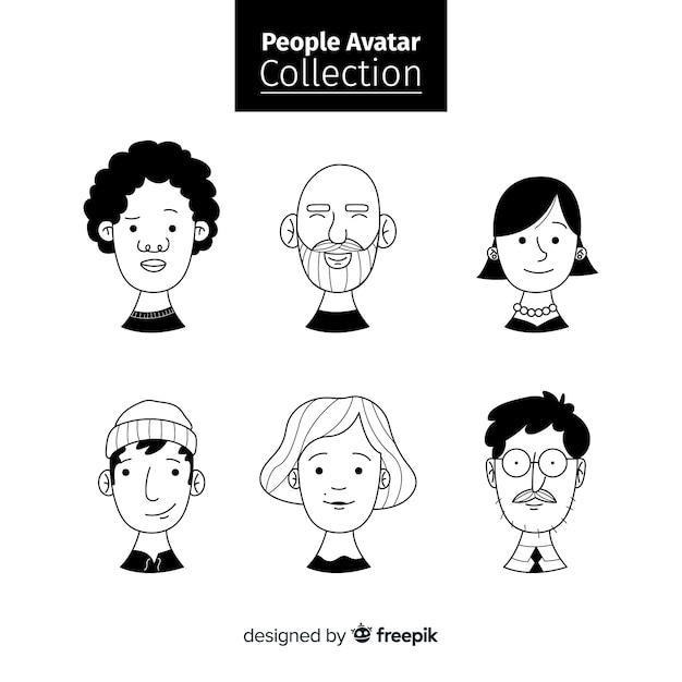 Set de avatares de personas vector gratuito