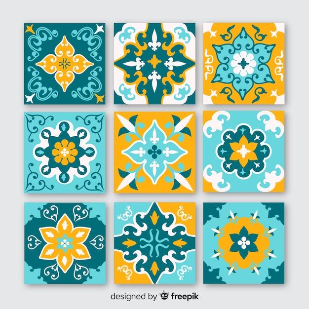Set de baldosas de cerámica vector gratuito