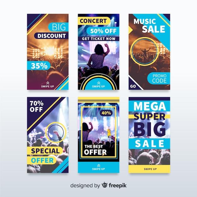Set de banners de rebajas para redes sociales vector gratuito