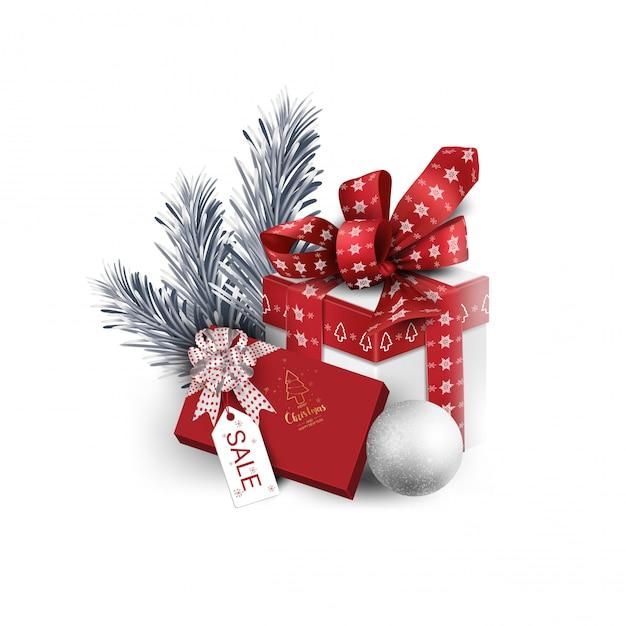 Set de caja de regalo Vector Premium