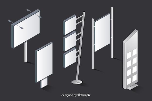Set de carteles luminosos vector gratuito
