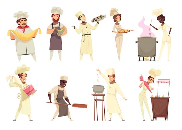 Set de cocina profesional vector gratuito