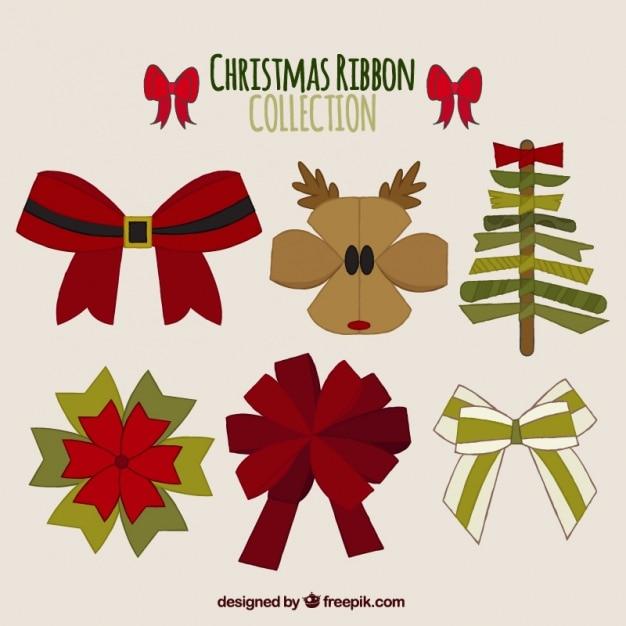 Imagenes Lazos De Navidad.Set De Creativos Lazos De Navidad Descargar Vectores Gratis