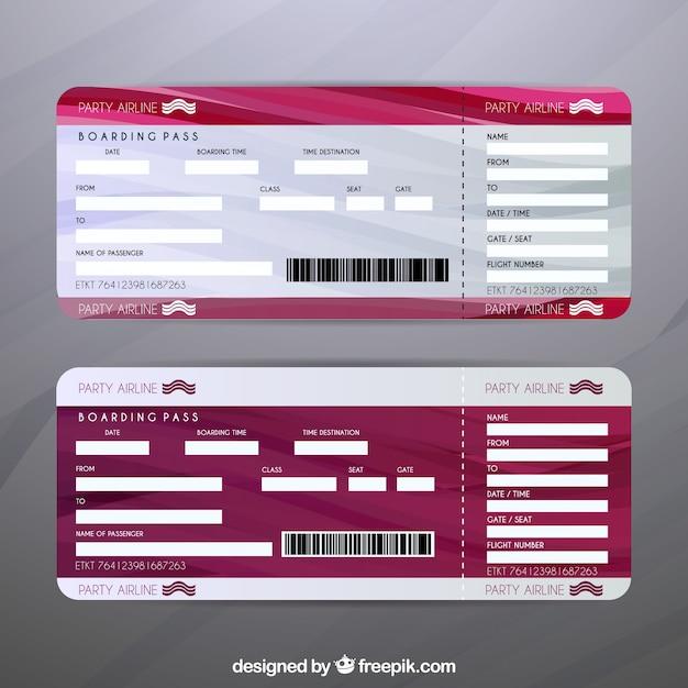 Set de billetes de avión | Descargar Vectores gratis