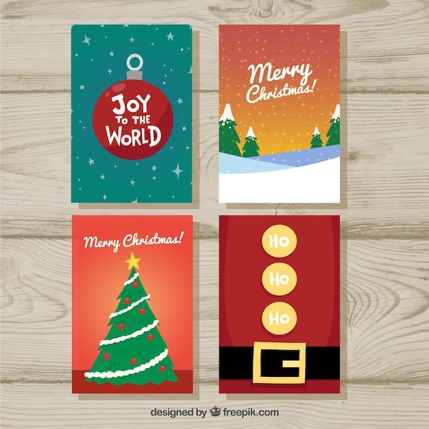 Set de bonitas tarjetas de feliz navidad descargar - Bonitas tarjetas de navidad ...