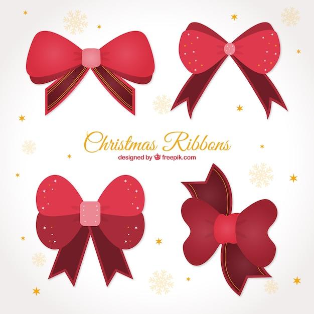 Set de bonitos lazos de navidad para regalos descargar - Regalos bonitos para navidad ...