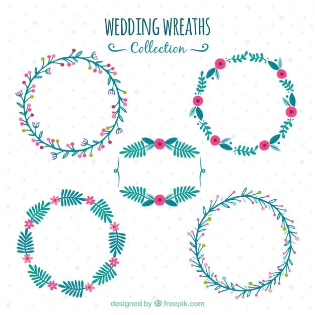 Set de cinco marcos decorativos de boda descargar - Marcos decorativos ...