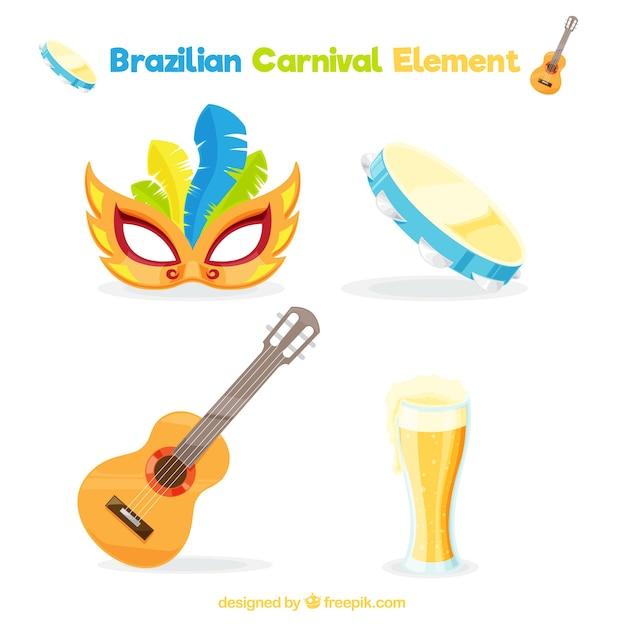 Set de cuatro art culos listos para el carnaval de brasil - Articulos carnaval ...