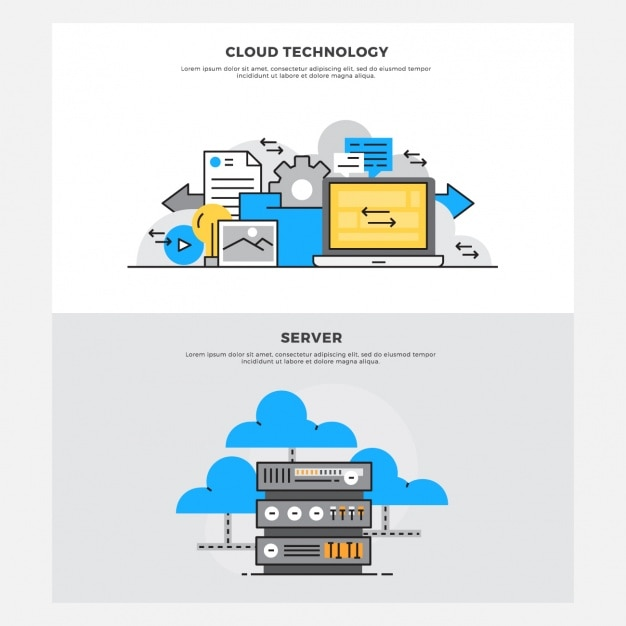 Set de diseños de almacenamiento Vector Gratis