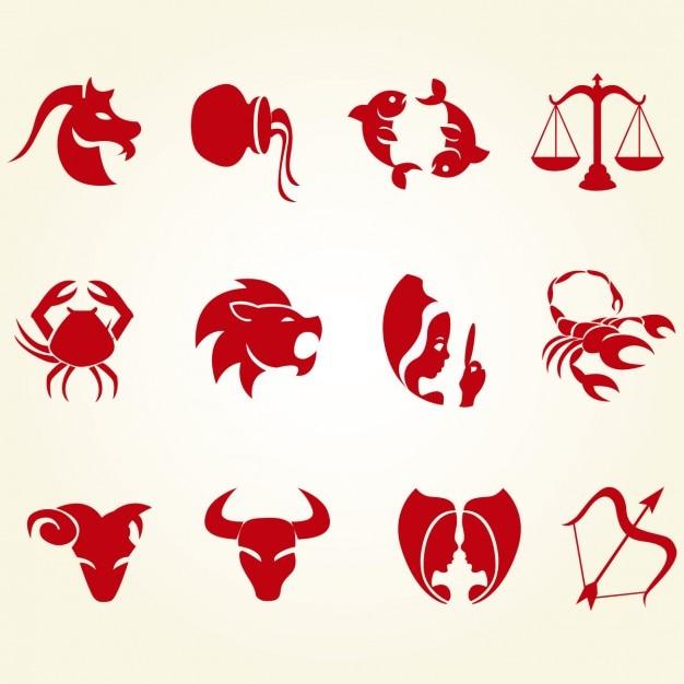 Set de iconos de signos del zodiaco | Descargar Vectores gratis