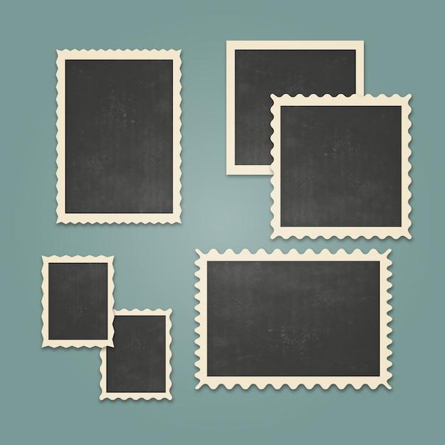 Set de marcos de fotos vintage descargar vectores gratis - Marcos de fotos vintage ...