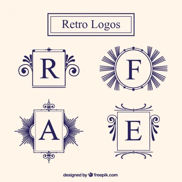 Set de marcos de logo vintage | Descargar Vectores gratis
