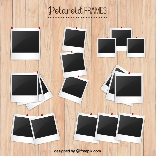 set de marcos de polaroid descargar vectores premium. Black Bedroom Furniture Sets. Home Design Ideas