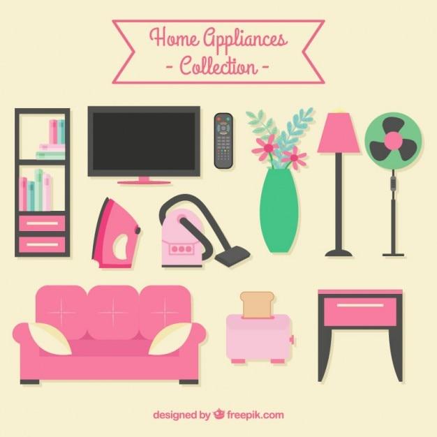 Set De Muebles De Casa Planos Y Electrodom Sticos