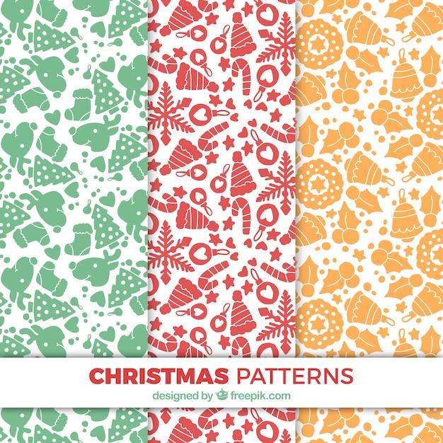 Set de patrones decorativos de objetos de navidad - Decorativos de navidad ...