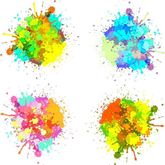 Set de salpicaduras de pintura descargar vectores gratis - Salpicaduras de pintura ...