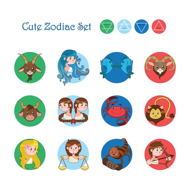 Set de signos del zodiaco descargar vectores gratis - Signo del sodiaco ...