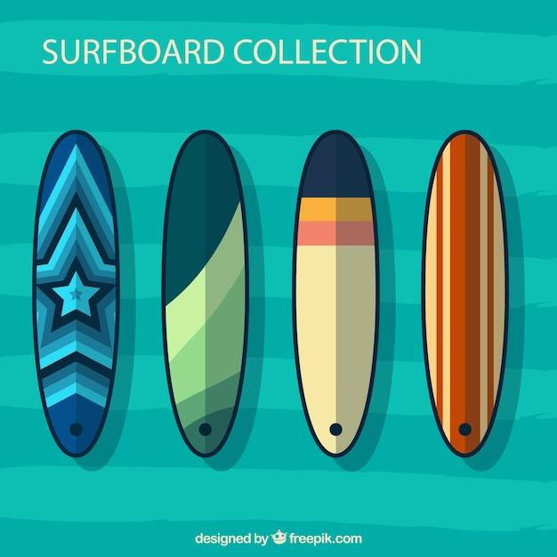 Set de tablas de surf en dise o abstracto descargar - Disenos de tablas de surf ...