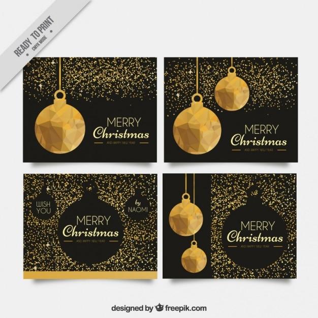 Set de tarjetas de navidad elegantes con brillantina - Tarjetas de navidad elegantes ...